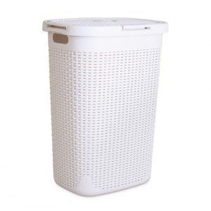 סל כביסה לבן – 60 ליטר