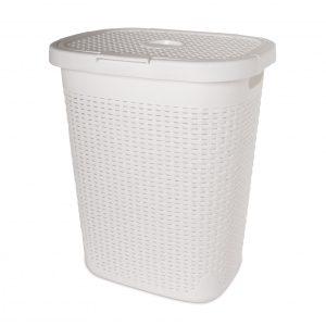 סל כביסה לבן – 50 ליטר
