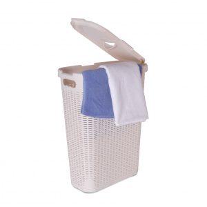 סל כביסה לבן – 40 ליטר