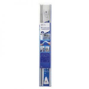 מוט לוילון אמבטיה אלומיניום 1–3 מטר