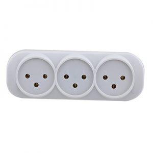 מפצל חשמל 1 ל 3 בבליסטר